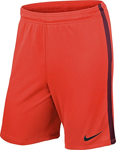Nike Herren Shorts League Knit, 725881-671, Orange (bright crimson/deep garnet/Black/671), Gr. 2XL -