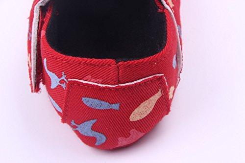 Bigood Tier Bilder Druck Baby Mädchen Schuh Lauflernschuhe Krabbelschuhe Rot