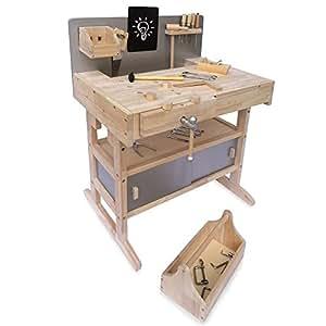 kinderwerkbank werkzeugbank holz werkstatt werkbank kinder werkzeug spielzeug. Black Bedroom Furniture Sets. Home Design Ideas