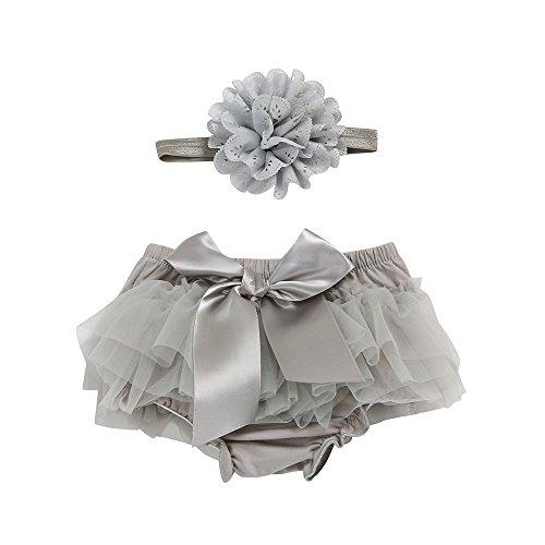 YWLINK Baby MäDchen Karneval Tutu Rock+Stirnband Set Spitze Bowknot Chiffon Slips Diaper Cover ()