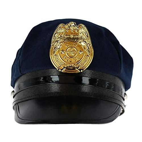 Jacobson Hat Company Kindermütze aus Baumwolle Gr. One Size, Navy (Mädchen Blaue Polizei Offizier Kostüm)
