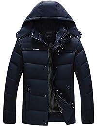 Hyvaluable Giacche e Cappotti Cappotti Piumino Invernale in Piuma D Oca  Uomo Casual Confortevole Cappotto fa623b6d9a4d