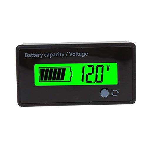 Sprießen 6-73V LED Digital Battery Capacity Monitor Lithium Battery Universal Green Screen Waterproof di commutazione Voltaggio Volt Meter Capacità della batteria Meter Voltmetro
