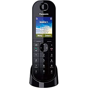 Panasonic KX-TGQ400GB IP-Telefon, CAT-iq, Farbdisplay, Schwarz
