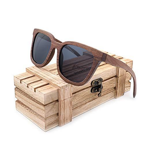 SLONGK Zebra Holz Bambus Polaroid Sonnenbrille Polaroid Sonnenbrille Damen Eyewear
