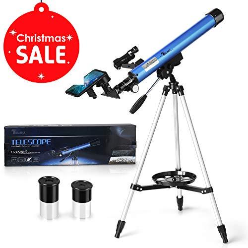 TELMU - Telescopio Astronomico F60050M/5 Longitud Focal 600 MM Ultra-Alto Claro De 50 MM para Telescopio Celestron Y La Visualización Terrestre Y Uso Astronómico