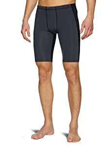 2XU Herren Kompressionshose Men's Elite Compression Short, Black/Steal, S, MA1934b