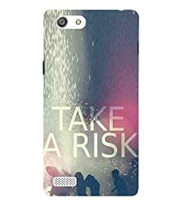 For Oppo Neo 7 :: Oppo A33 risk Printed Cell Phone Cases, quotes Mobile Phone Cases ( Cell Phone Accessories ), daring Designer Art Pouch Pouches Covers, boys Customized Cases & Covers, inspirational Smart Phone Covers , Phone Back Case Covers By Cover Dunia