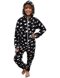 KCL London Kids Paw Print Onesie All In One Sleepsuit Fleece £29.99