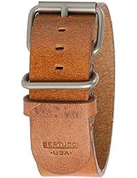 Bertucci b-190h para hombre de piel color marrón 26mm patrimonio Scotch reloj banda
