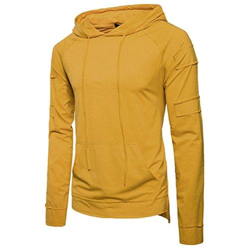 MRULIC Herren Slim-Fit Kapuzenpullover Hoodie Sweater Pullover Sweatshirt -