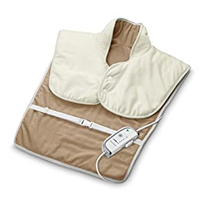 Medisana HP 630 Heizkissen für Schulter und Rückenbereich – Wärmekissen mit 4 Temperaturstufen – mit Überhitzungsschutz und Abschaltautomatik- maschinenwaschbar – 61167