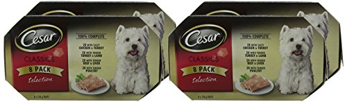 Cesar Classics - Wet Dog Food for Adult Dogs 1 + Mixed Selection in Loaf, 16 Trays (16 x 150 g) 2