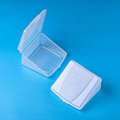 Caja de Contenedor de Queso Almacenamiento Caja de Almacenamiento Transparente Contenedor Servidor de Queso Servidor Bandeja Para Pastel de Queso Sandwich Tostada Queso Brindis   2 piezas
