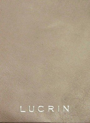 Lucrin OS1234_VCLS_TPC - Cartera para documentos (piel sintética, tamaño A4), color beis
