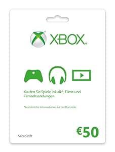 Xbox Live - 50 Euro Guthabenkarte
