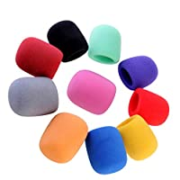 LIOOBO 20pcs Microphone Foam Covers Handheld Stage Microphone Windscreen Mic Pop Filter Cover Protector For Stage Performance KTV Office