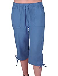 Oregon Frauen Capri Crop Shorts Hosen Damen 3/4 Dreiviertelhose