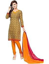 A K Designer Women's Chiffon Dress Material (Mehak1019_Free Size_Blue)