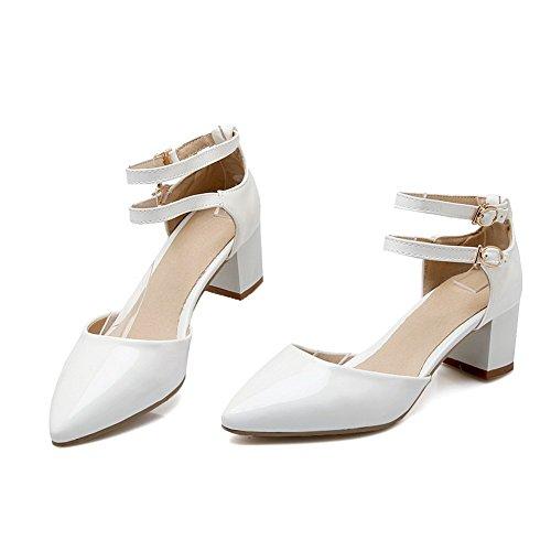 Adee Femme pointed-toe ankle-cuff polyuréthane Sandales Blanc - blanc