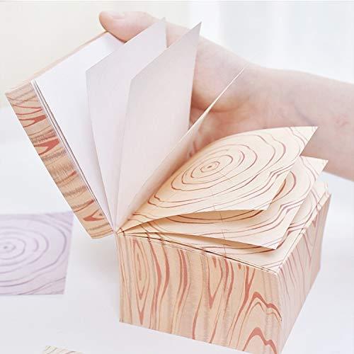 Xiaochou@sl Nota appiccicosa del mattone di legno letterario del mattone, può essere strappata spessa 600 note appiccicose del messaggio, carta portatile, formato: 90cm.
