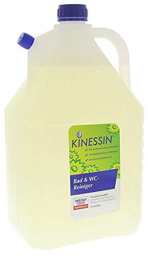 KINESSIN Bad- und WC-Reiniger entfernt mühelos Kalkschleier, Seifenreste, Urinstein, 5 Liter