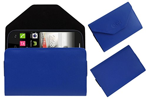 Acm Premium Pouch Case For Panasonic T31 Flip Flap Cover Holder Blue  available at amazon for Rs.179