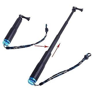 ABCTen Verlängerbarer Selfie-Stick, Aluminium-Stab, für GoPro Hero 54Session, 19 bis 49cm