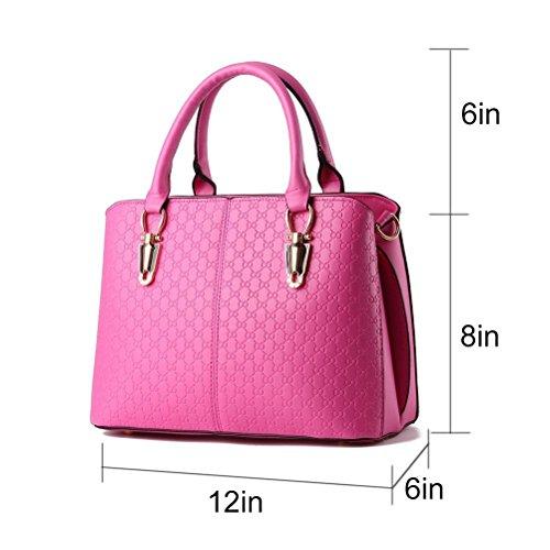 Bdawin Moda Tendenza Femminile Borsa Grande Borsa Retrò Borse Casual Messenger Bag Messenger Bag Per Le Donne Tt1220-de Bianco Rosso