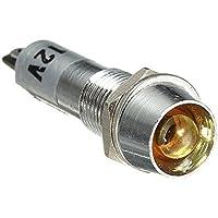 Kontrollleuchte Licht Gelb - SODIAL(R)8mm LED Dashboard Signalleuchte Kontrollleuchte Licht 12V Gelb 10pcs