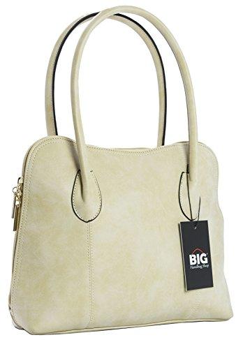 Big Handbag Shop - Borsa a tracolla donna (beige)