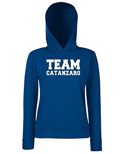 T-Shirtshock - Sweats a capuche Femme OLDENG00364 team catanzaro Bleu Navy