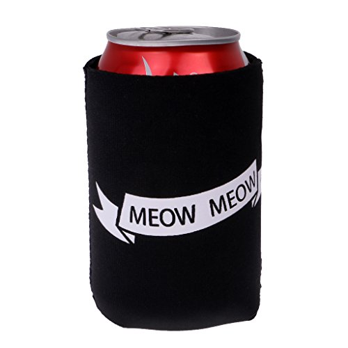 419afXXsrNL. SS500  - Sharplace I WISH YOU WERE A CAT, MEOW MEOW Set Funny Stubby Beer Tin Can Cooler Sleeve Wedding Party Accessories