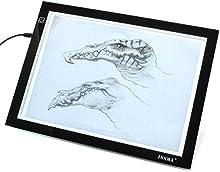 insma A4LED mesa de copia de dibujo Junta caja de luz diseño de Artcraft Tracing ultrafina USB de alimentación regulable Brillo Profesional Interior, de arquitectura, diseño de ropa, como dibujo (a4-dc) color blanco
