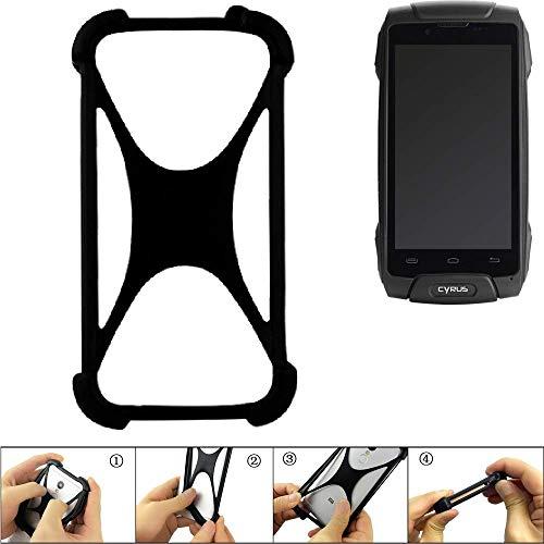 K-S-Trade Handyhülle für Cyrus CS 30 Schutz Hülle Silikon Bumper Cover Case Silikoncase TPU Softcase Schutzhülle Smartphone Stoßschutz, schwarz (1x)