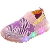 Scarpe Bambina con Luci Sneakers, LED Scarpe Sportive per Bambini Ragazzi e Ragazze Traspirante Mesh Scarpe Bambino con…
