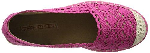 Buffalo 327675 Cotton, Espadrilles femme Rose - Pink (FUCHSIA 01)