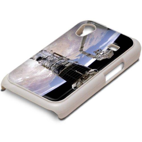 Raumfahrzeug, Weiß Handyhülle Schutzhülle Schale Fall Hard Case mit Farbig Entwurf für Samsung Galaxy Ace i5830