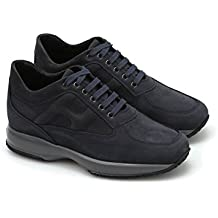 12a784a5ad0fe Hogan Sneaker Interactive in camoscio HXM00N00010DSCU215 Blu Uomo 10
