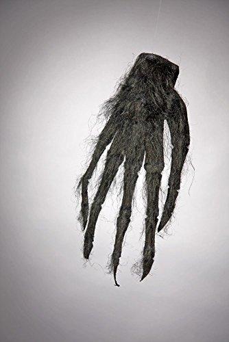 Panelize Horrorhand Werwolf Monster Schwarze behaarte Zottelhand 22 x 49cm