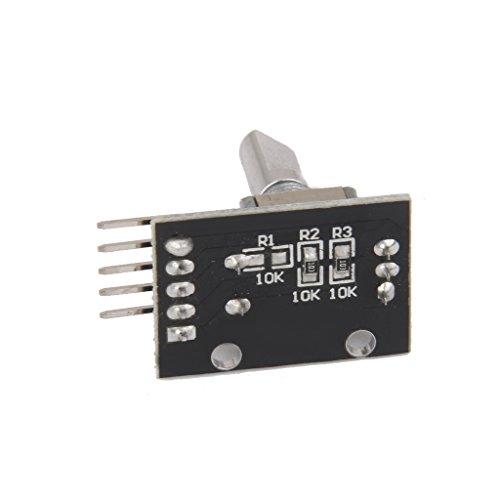 Sharplace 2 x 360 Dreh Encoder Modul KY-040 für Arduino 25*20*30mm Schwarz Drehgeber-Modul Breakout-Modul Breakout Board