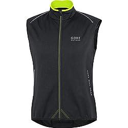 Gore Bike Wear Herren Warme Soft Shell Rennrad-weste, Gore Windstopper, Power Ws So Thermo Vest, Größe M, Schwarz, Vpower