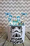 MISS NAPPY CAKE Windeltorte STORMPOOPER Star Wars Body Sterne Baby Junge Geschenk Geburt, Taufe, Babyparty
