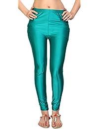 Comix Women Cotton Lycra Fabric Comfort Fit Ankle Length Plain Leggings (Orchid,XXL)