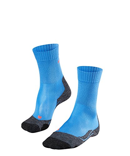FALKE TK2 Cool Damen Trekkingsocken / Wandersocken - blau, Gr. 39-40, 1 Paar, kühlende Wirkung, mittlere Polsterung, feuchtigkeitsregulierend - Coole Socken Knie Hoch