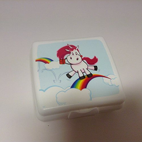 TUPPERWARE Sandwich-Box Brotbox Pausenbrotbehälter A126 Sandwichbox Einhorn weiß