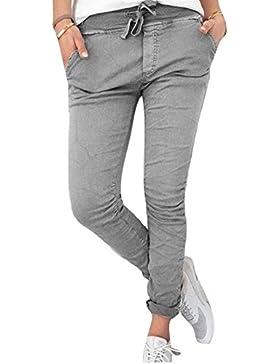 BoBoLily Pantalones Lápiz Mujer Pantalones De Tiempo Libre Pantalon Pants Elegantes Elásticos Skinny Verano Color...