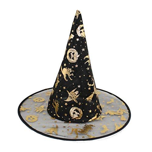 ENGXING 1 Stücke Erwachsene Frauen Hexe Hut Für Halloween Kostüm Zubehör Hexen Hütte Sombrero De Bruja (Erwachsene Hexe Kostüme Zubehör)