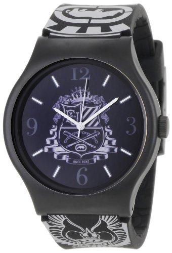 Marc Ecko Herren Datum klassisch Quarz Uhr mit Silikon Armband E06511M1 (Ecko Uhr)