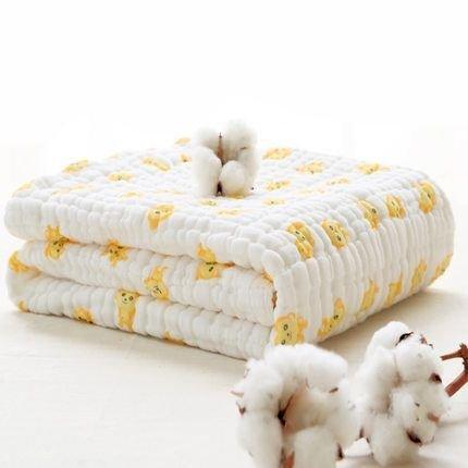Lucear Muslin 100*100 Warme Babydecke/Badetuch für Neugeborenes Baby(Gelb)